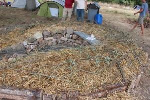 Le trou de serrure prêt à être planté